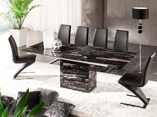 Zeus Black Nero Marble Extending Dining Table 6 Chairs : 1804482ZEUS NERO D216 BLACK from www.fu-nicha.com size 550 x 412 jpeg 43kB