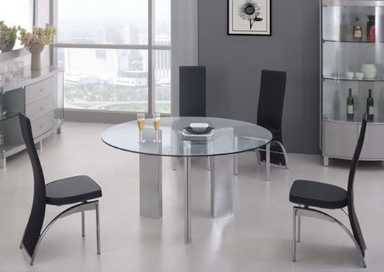 Glass dining set round tetris medium transparent with 4 for 120 round table seats how many