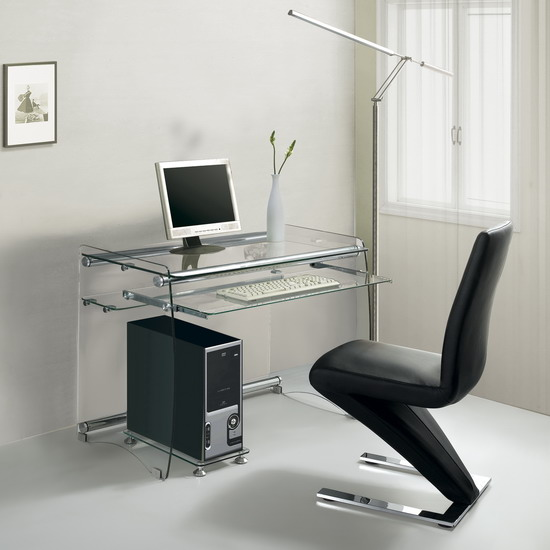 Boxey Large Transparent Computer Desk