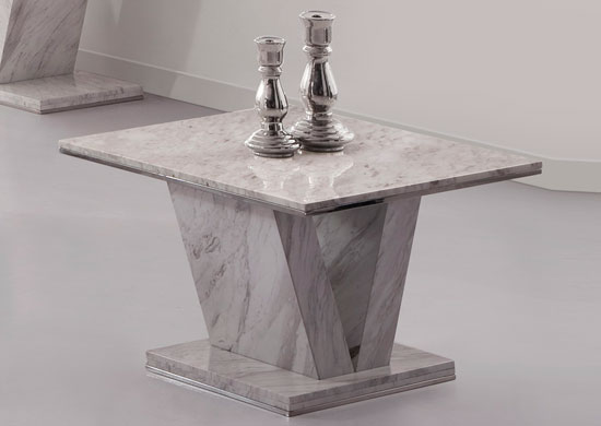 Hera White Grey Marble V Leg Side End or Lamp table : hera white end from www.fu-nicha.com size 550 x 390 jpeg 23kB