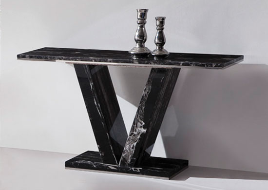 HERA Black Marble V Leg Console Hall Sofa Table : heraconsole from www.fu-nicha.com size 550 x 390 jpeg 23kB