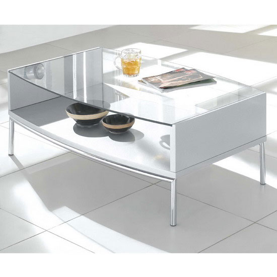 Glass Coffee Table Metro Silver Fu Nicha Genuine Brand