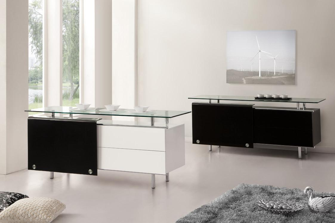 Oxygen Ultra Chic Contemporary Glass Sideboard