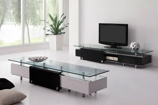 White Rectangular Coffee Table With Drawers