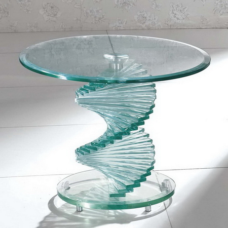 Swirl Glass Side Table