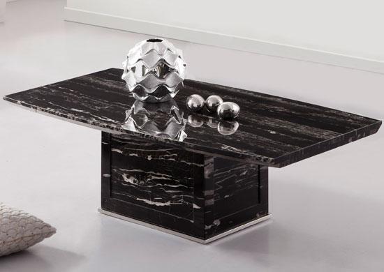 Zeus Black Marble Coffee Table