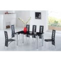 Jet Dining Table and 6 Chair Set FU-NICHA Genuine Brand