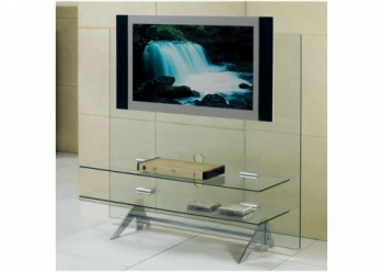 Glass plasma tv stand Cascade Transparent