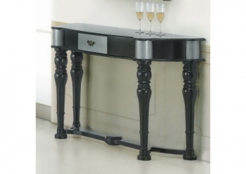 Wood console table Dolphins Black