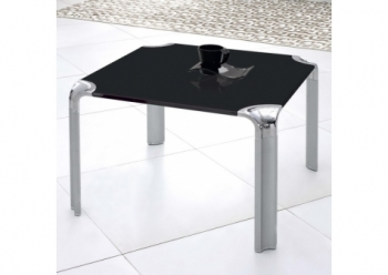Erica - Glass side table Black