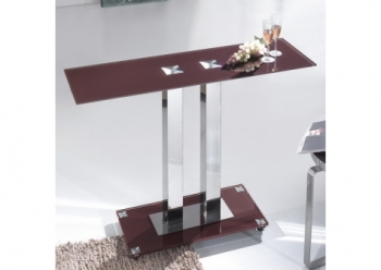 Glass console table Ice Chocolate