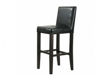 Faux Leather bar stool Rodin Wenge