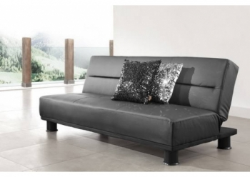 Faux Leather Black Sofabed San Diego 3 seater
