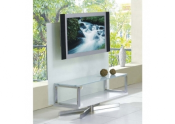 Glass plasma tv stand Swivel White