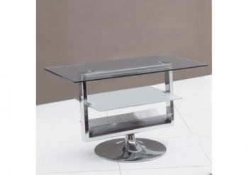 Glass plasma tv stand TT swivel Transparent