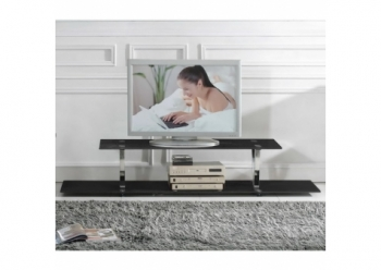 Glass plasma tv stand V Black