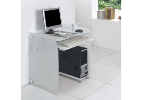 Boxey - Frosted Computer Desk (L)