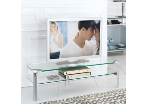 Erica - Transparent Glass Large TV Stand