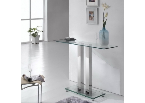 Glass console table Ice Transparent